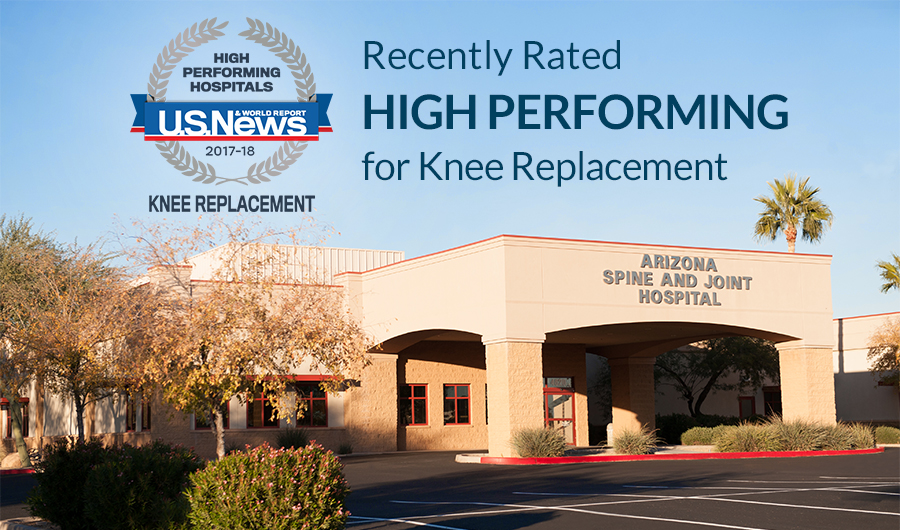 rated high performing for knee replacement